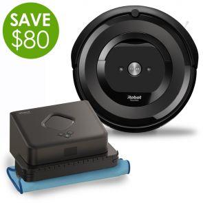 iRobot Roomba e5 Robot Vacuum & Braava 380t Robot Mop